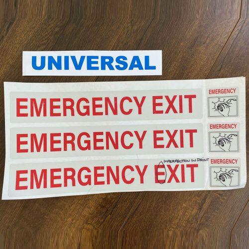 Universal Emergency Exit Sticker Printing